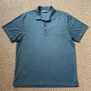 TRAVIS MATHEW Mens The Zinna Blue Golf Polo Shirt